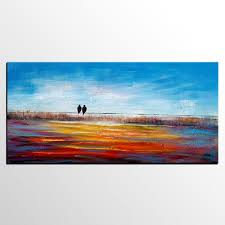 Original Art Love Birds Painting Dining Room Wall Abstract