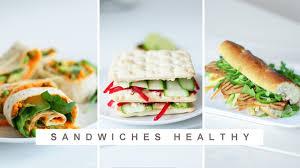 3 recettes cuisine sandwich healthy 3 recettes à tester