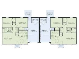 Images Duplex Housing Plans by Multi Family House Plans One Story Duplex Plan 025m 0083 At