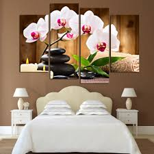 Canvas Painting Printed Pictures Paints Wall Hanging Prints Home Decoration Large SPA Flower And Tone Picture H071 In Calligraphy From