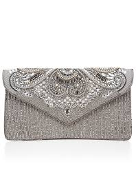 kia encrusted clutch bag silver accessorize my style