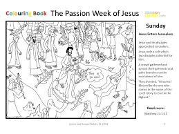Jesus On A Donkey Coloring Page