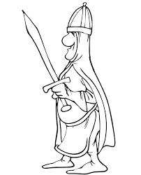Knight Coloring Page Holding A Sword