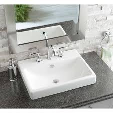 shop jacuzzi anna white ceramic drop in rectangular bathroom sink