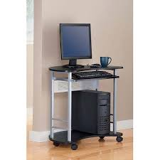 Mainstay Computer Desk Instructions by Mainstays Computer Cart In Black And Silver Walmart Com