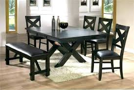 Black Kitchen Table Bench Dining Room With Set