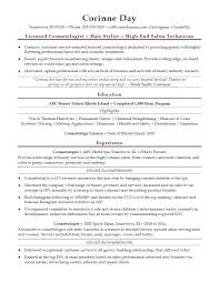 Cosmetologist Resume Sample
