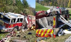 100 Fire Truck Accident Fighters Injured After Overturns In Charlotte