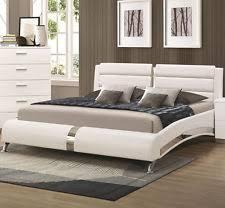 Coaster KW Felicity Glossy White California King Bed
