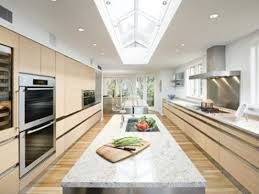 Back To Simple Brilliant Galley Kitchen With Island Layout