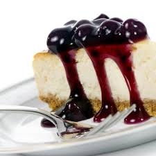 Cheesecake Factory inspired Blueberry Cheesecake Cheesecake with Cherry Toppings