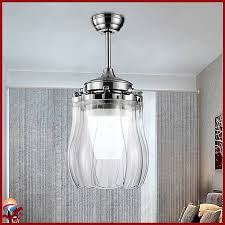 Retractable Blade Ceiling Fan India by Modern Transparent Plastic Blades Folding Ceiling Fan Lights