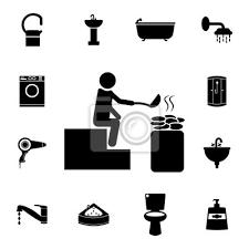 fototapete mann in der sauna symbol element der badezimmersatzikone badezimmer