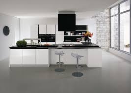 cuisine blanc et noir cuisine blanc design photos de design d intérieur et décoration