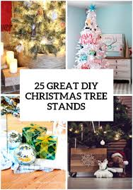 Plastic Wrap Your Christmas Tree by 25 Great Diy Christmas Tree Stands And Bases Shelterness