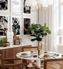 esszimmer wandposter kaffee poster goldrahmen
