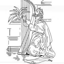David And King Saul Coloring Page