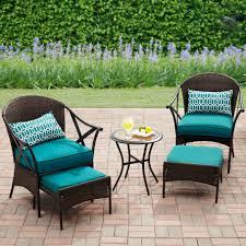 Mainstays Patio Heater Instructions by Mainstays 5 Piece Skylar Glen Outdoor Leisure Set Blue Seats 2
