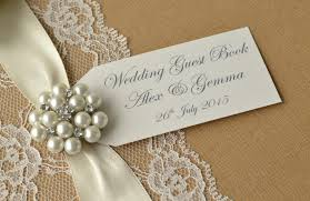 Rustic Style Personalised Wedding Guest Book 5