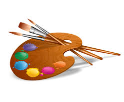 Paint Brushes The Palette Painting Colored