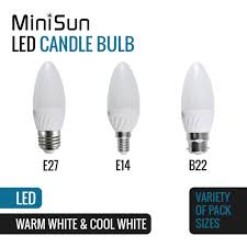 minisun energy saving 4w led candle light bulbs frosted ls home