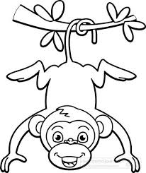 Monkey Black White Clipart Rocks Pinterest