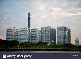 100 Apartments In Yokohama Dense Urban Housing Apartments In Yokohama Japan Stock Photo