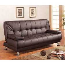 Braxton Leatherette Sofa Bed Brown Walmart