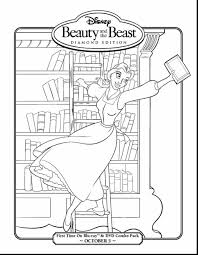 Spectacular Disney Princess Belle Coloring Pages With And