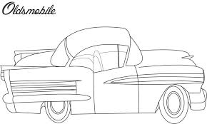 Oldsmobile Car Coloring Printable Page For Kids