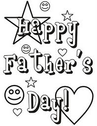 Happy Fathers Day Greeting Card Coloring Pages