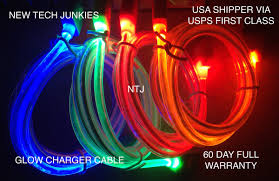 "3FT GLOW¢""¢ LED CHARGER LIGHT UP DATA SYNC USB CABLE FOR APPLE'"