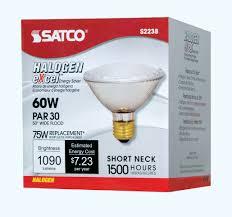 Satco Led Flood Lamps by Satco Lighting S2238 Single 60 Watt Dimmable Par30 Shaped Medium