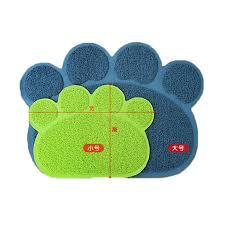 Cat Litter Carpet by Footprint Shape New Cat Litter Mat Pet Toilet Self Clean Rug And