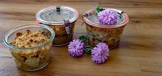 kuchen im glas rezept für apfel birnen crumble
