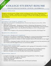 Internship Resume Objective Example For College Student