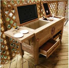 Rustic Outdoor Patio Cooler Bar | The Baum List Patio Cooler Stand Project 2 Patios Cabin And Lakes 11 Best Beverage Coolers For Summer 2017 Reviews Of Large Kruses Workshop Party Table With Built In Beerwine Ice How To Build A Wood Deck Fox Hollow Cottage Diy Your Backyard Wheelbarrow Foil Smoker Outdoor Decorations Beer Wooden Plans Home Decoration 25 Unique Cooler Ideas On Pinterest Diy Chest Man Cave Backyard Our Preppy Lounge Area Thoughtful Place