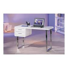 bureau blanc laqué bureau blanc laqué 2 tiroirs kipling par drawer fr