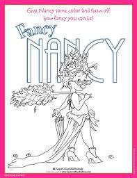 A Colorful Fancy Nancy Printable Coloring Sheet