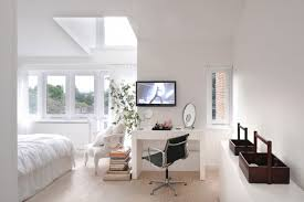 Cozy Bedroom With A Clever Workspace Design TG Studio