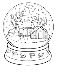 Winter Coloring Pages Snow Globe
