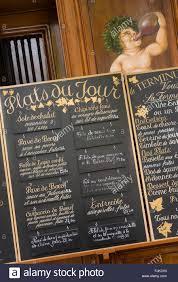 speisekarte des restaurants frankreich esszimmer