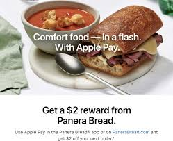 Apple Pay Promo Offers $2 Off Future Panera Bread Order With ... Meatless Monday Panera Archives Redeem Mypanera Rewards From The Panera Bread Android App 16 Fresh Hacks From A Former Employee The Krazy I Have To Take Two Consolidated Balance Sheets Santas Village Printable Coupons Online Delivery Food Basics Ontario Red Run Grill Free Soup With New Expanded Nationwide Minor Coupon Sherpa Olive Garden 50 Discount Off December 2019 Shares Hit 52week High On Buyback Outlet Sale Plans