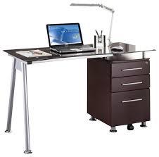 Techni Mobili Super Storage Computer Desk Canada by Ava Glass Desk Houzz
