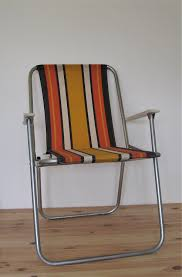 Vintage Folding Striped Deckchair Retro Boho Old Camping ...