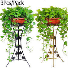 Garden Patio 3 Holder Metal Plant Pot Stand Flower Display Shelf Home Outdoor