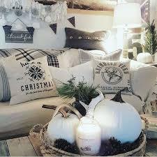 Christmas Fun White Decorations Farmhouse Decor Style Cottage Pillow Ideas Thanksgiving Seasonal