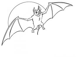 Halloween Bat Coloring Pages Coloring Page For Kids
