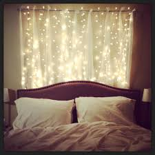 Headboard With Lovely Strings Of Lights Bedroom Decorations A And Beautiful Array Sparkling String For In Order To Pursue The