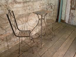 Vintage Wrought Iron Porch Furniture by French Antique Wrought Iron Garden Table U0026 Chairs Set Vintage